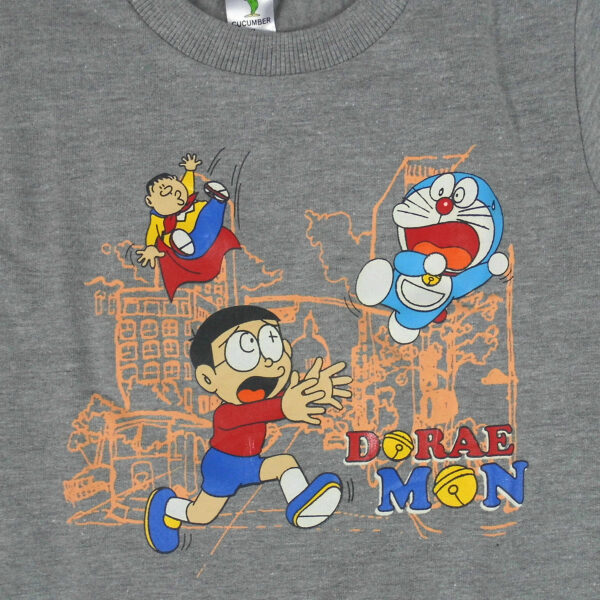 Cucumber Doraemon Print Full Sleeve T-Shirt-5862