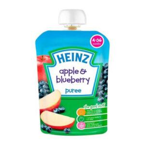 Heinz Apple & Blueberry Puree (4-36m) - 100G-0