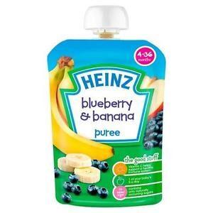 Heinz Blueberry & Banana Puree (4-36m) - 100G-0