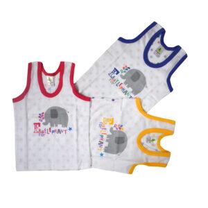 Cucumber Multi Color Boy Vests Pack Of 3-0