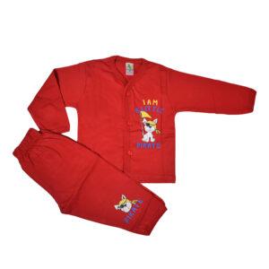 Cucumber Full Sleeves Set - Vest & Pant - Red-0