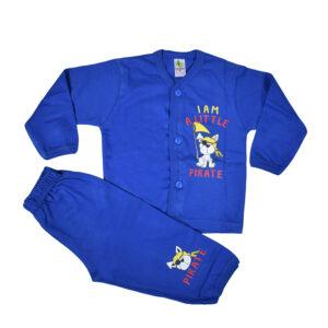 Cucumber Full Sleeves Set - Vest & Pant - Blue-0