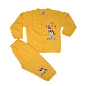 Cucumber Full Sleeves Set - Vest & Pant - Yellow-0