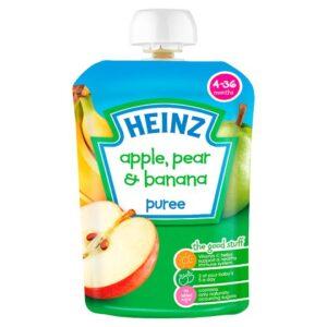 Heinz Apple, Pear & Banana Puree (4-36m) - 100G-0