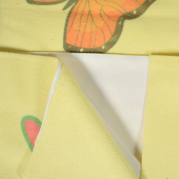 Quick Dry Printed Waterproof Bed Protector Sheet - Yellow - Small-6337