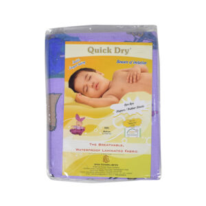 Quick Dry Printed Waterproof Bed Protector Sheet - Purple - Small-0