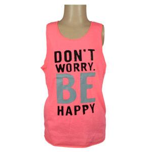 Be Happy Quotes Kids Trendy Vest - Shinny Orange-0