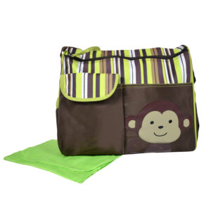 Diaper Bag (Mother Bag) With Free Changing Sheet - Brown-0