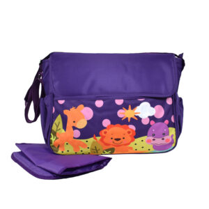 Diaper Bag (Mother Bag) With Free Changing Sheet - Purple-0