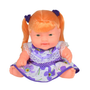 Baby Show-peace & Playing Doll (Golden Hairs) - Blue/White-0