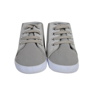 Boys Soft Shoes - Grey-0