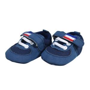 Babys World Boys Soft Shoes - Blue-0
