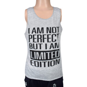 Limited Edition Quotes Kids Trendy Vest - Grey-0