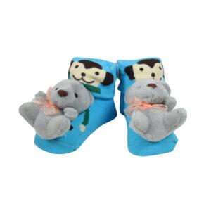 Baby Fancy Cartoon Face Socks cum Shoes - Multi Color-0