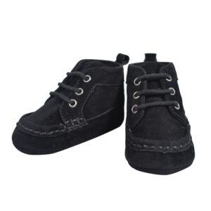 Baby Boy Soft Boots - Black-0
