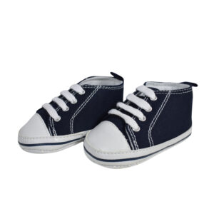 Baby Soft Canvas Shoes/Booties - Navy Blue-0