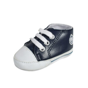 Baby Soft Canvas Shoes/Booties - Navy-0