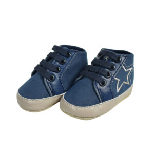 Baby Lases Soft Shoes/Booties - Navy-0