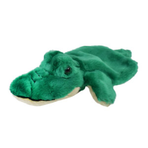 "Babys Word Soft Muppet Plush Toy Crocodile 14"" - Green-0"