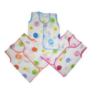 Baby Jhabla Pack of 3 Front Open - Button Closer-0