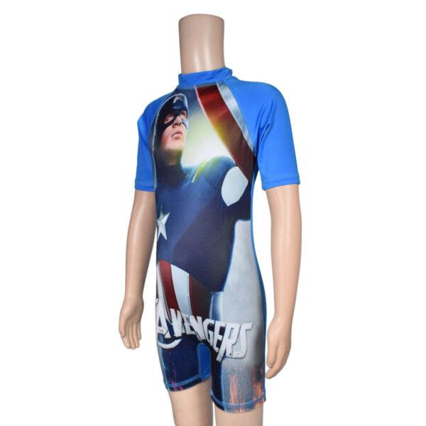 Swimming Dress Avenger Print - Blue-7879