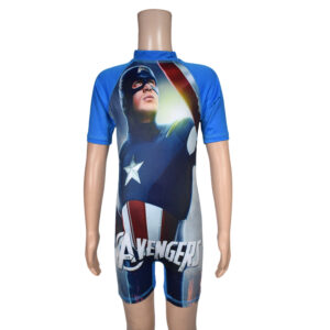Swimming Dress Avenger Print - Blue-0