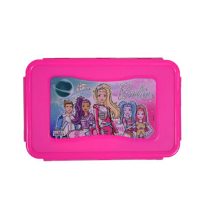 Barbie Lunch Box With One Container - Pink/Blue-0