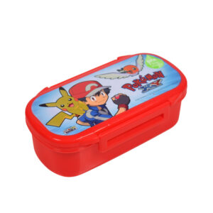 Pokemon Print Lunch Box With Spoon & Fork - Red-0