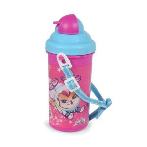 Barbie Water Bottle 500 ml (Barbie Print) - Pink/Blue-0