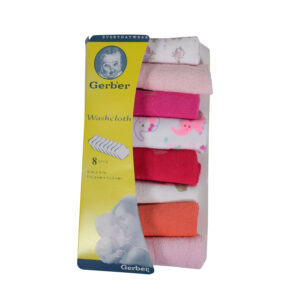 Gerber Hosiery Cotton Washcloth /Napkin 8 pack (Pink Shade)-0