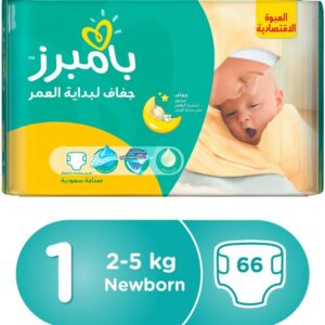 Pampers New Baby 1 Diapers New Born (2-5 Kg) - 66 Pcs-0
