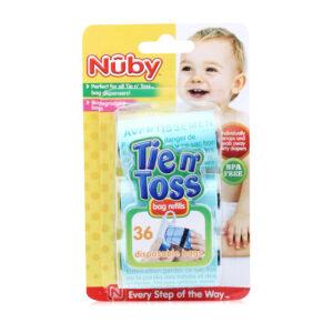 Nuby Tie N Toss Diaper Dispenser Bags - 36Pieces-0