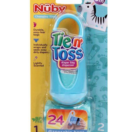 Nuby Tie N Toss Diaper Dispenser Bags - 24 Pieces-0