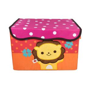 Multi Purposable Foldable Storage Box - Pink/Orange-0