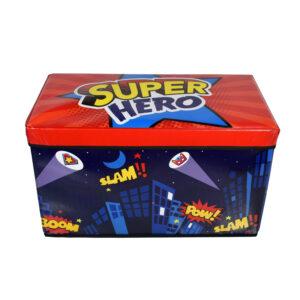 Super Hero Multi Purpose Foldable Storage Box - Blue/Red-0