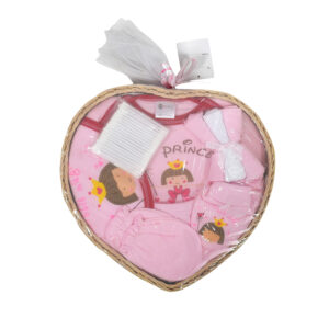 Montaly Heart Shape New Born Baby Gift Pack - 6 Pieces-0