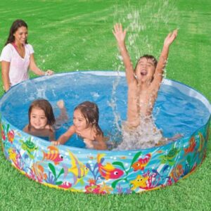 Intex Non-Inflatable Buddies Snapsettm Pool, Multicolor - (6 feet)-0