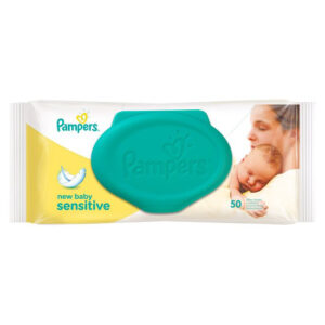 Pampers Baby Cotton Wipes - 50 Pieces-0
