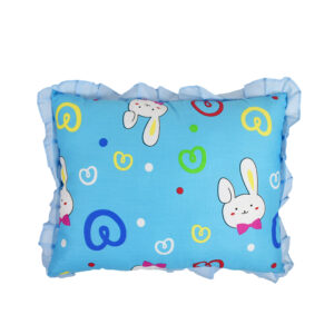 Bunny Print Baby Pillow - Blue-0