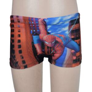 DIgital Print Spider Man Kids Swimming Trunks - Red/Black-0