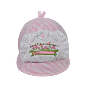 Baby Flap Cap - Pink-0