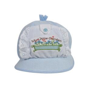 Baby Flap Cap - Sky Blue-0