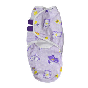 Carter's Premium Baby Swaddle Adjustable Infant Wrap - Purple-0