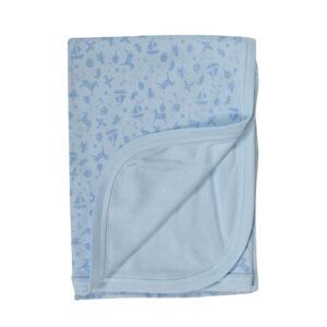 Baby Wraping Sheet Printed (Blue)-0