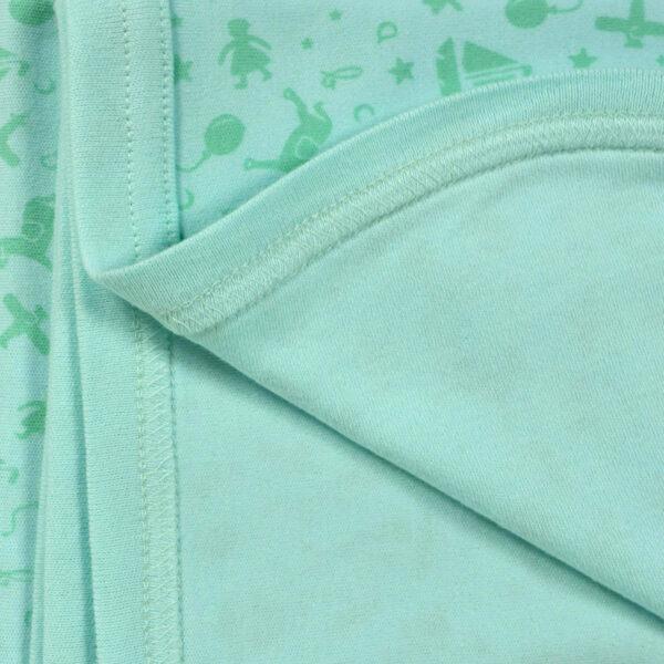 Baby Wraping Sheet Printed (Aqua) - 80x80-8684
