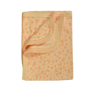 Baby Wraping Sheet Printed (Orange) - 80x80-0