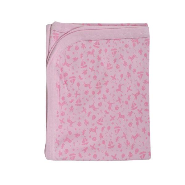 Baby Wraping Sheet Printed (Pink) - 80x80-8697