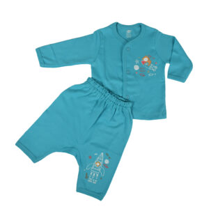 Zero Pack Of T-Shirt With Diaper Pant - Blue-0