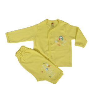 Zero Pack Of T-Shirt With Diaper Pant - Yellow-0