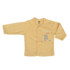 Zero Full Sleeve Front Open Vest - Orange-0